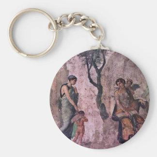 The Punishing Amor By Pompejanischer Maler Um 25 V Basic Round Button Keychain