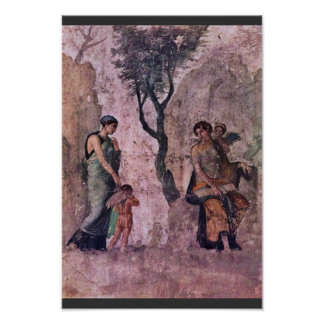 The Punishing Amor By Pompejanischer Maler Um 25 V Poster