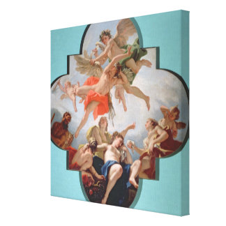 The Punishment of Cupid (oil on canvas) Canvas Print