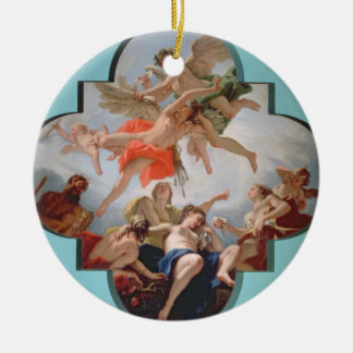 The Punishment of Cupid (oil on canvas) Double-Sided Ceramic Round Christmas Ornament