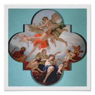The Punishment of Cupid (oil on canvas) Print