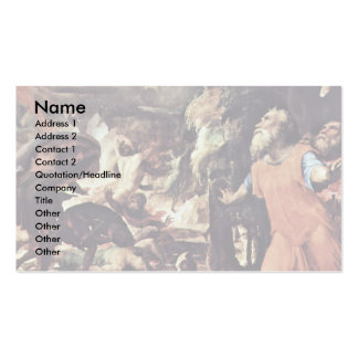 The Punishment Of Hell The Last Court Double-Sided Standard Business Cards (Pack Of 100)