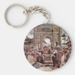 The Punishment Of Leviter Detail By Botticelli San Key Chain