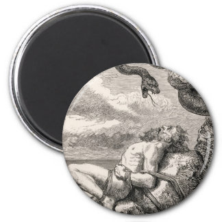 The Punishment of Loki by Louis Huard 2 Inch Round Magnet