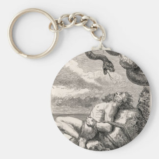The Punishment of Loki by Louis Huard Basic Round Button Keychain