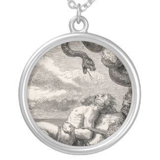The Punishment of Loki by Louis Huard Round Pendant Necklace