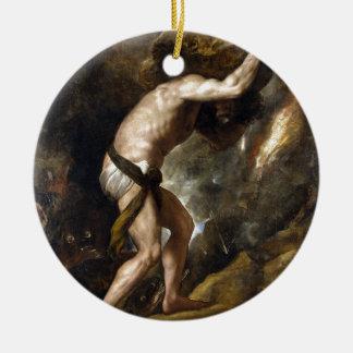 The Punishment of Sysiphus Ceramic Ornament