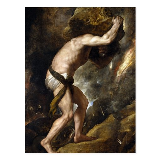 The Punishment of Sysiphus Postcard