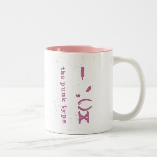 "the punk ""type"" mug"