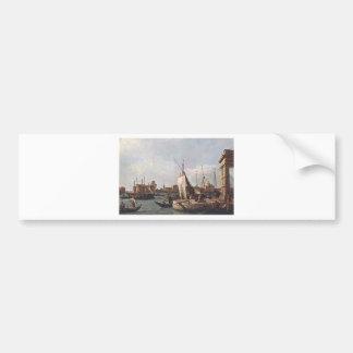 The Punta della Dogana by Canaletto Bumper Sticker