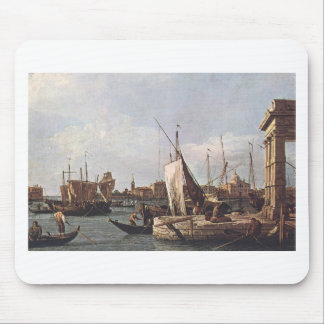 The Punta della Dogana by Canaletto Mouse Pad