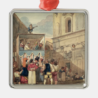 The Puppet Theatre Metal Ornament