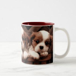 The Puppies Two-Tone Coffee Mug