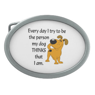 The Pups Oval Belt Buckle