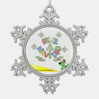 The Pups Snowflake Pewter Christmas Ornament
