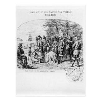 The Purchase of Manhattan Island, September 1626 Postcard