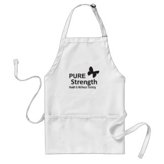 The Pure Strength Original Black Logo Adult Apron