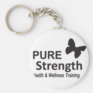The Pure Strength Original Black Logo Keychain