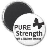 The Pure Strength Original Black Logo Magnets