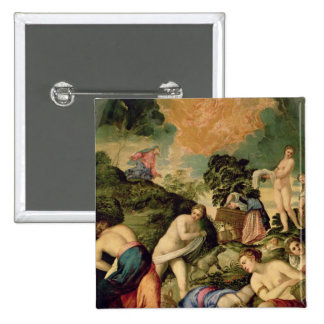 The Purification of the Midianite Virgins 2 Inch Square Button