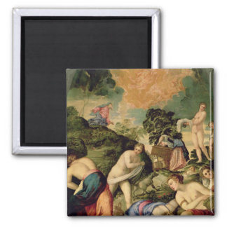 The Purification of the Midianite Virgins 2 Inch Square Magnet