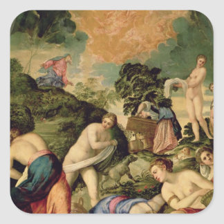 The Purification of the Midianite Virgins Square Sticker