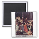 The Purification Of The Virgin By Reni Guido Refrigerator Magnet
