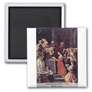 The Purification Of The Virgin By Reni Guido 2 Inch Square Magnet