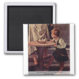 The Purification Of The Virgin DetailBy Guido Reni 2 Inch Square Magnet