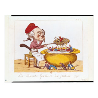 The Purifying Pot of the Jacobins, 1793 Postcard