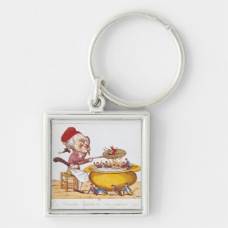 The Purifying Pot of the Jacobins, 1793 Silver-Colored Square Keychain