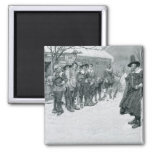The Puritan Governor 2 Inch Square Magnet