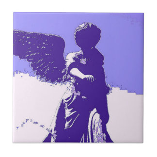 The Purple Angel Ceramic Tile