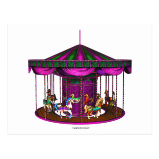 The Purple Carousel Postcard