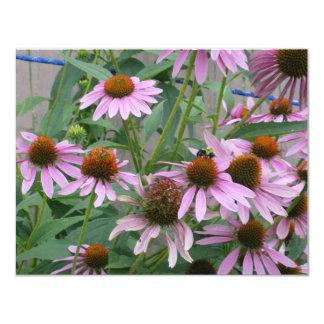 The Purple Coneflower 4.25x5.5 Paper Invitation Card
