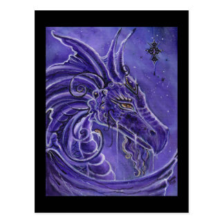 The Purple dragon fantasy art by Renee Lavoie Postcard