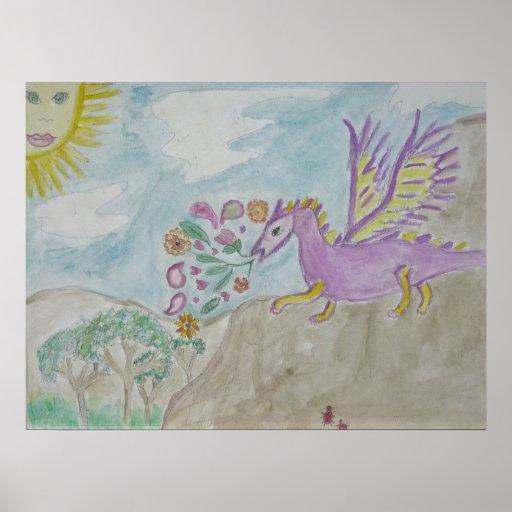 the purple dragon print