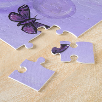 """The Purple Fairy"" art PUZZLE by ronne barton"