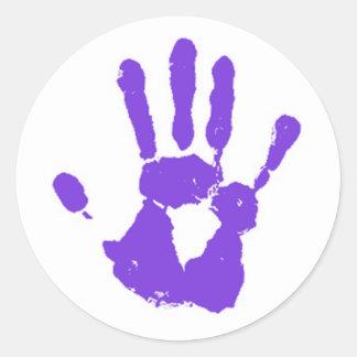 The Purple Hand Sticker