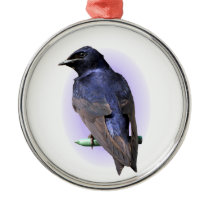 The Purple Martin Metal Ornament