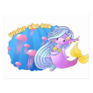 The purple Mermaid Postcards