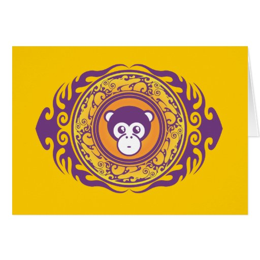 The Purple Monkey Greeting Card