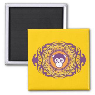 The Purple Monkey Refrigerator Magnet