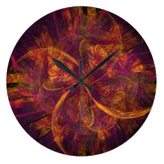 The Purple Pinwheel Wall Clock