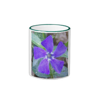 The Purple Pinwheel Flower Ringer Coffee Mug