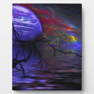 The purple planet photo plaque