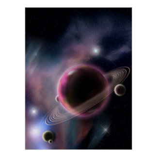 the purple Planet Poster