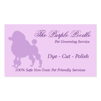The Purple Poodle Pet Grooming Business Card