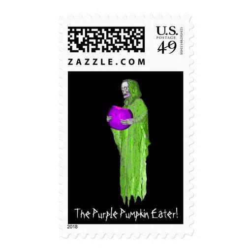 The Purple Pumpkin Eater! Stamp
