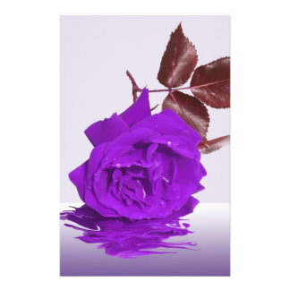 The Purple Rose Greetings Stationery